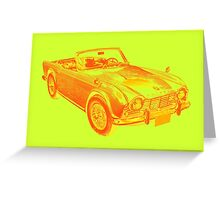 Triumph Tr4  Sports Car Pop art Design Greeting Card