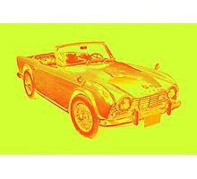 Triumph Tr4  Sports Car Pop art Design Photographic Print
