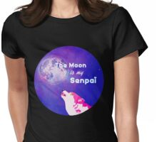 The Moon is my Senpai Womens Fitted T-Shirt