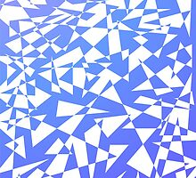 Jumble of Triangles in Blue by pASob-dESIGN