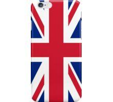British Union Jack flag - Authentic version (Duvet on white background) iPhone Case/Skin