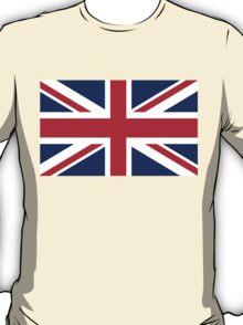 British Union Jack flag - Authentic version (Duvet on white background) T-Shirt