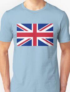 British Union Jack flag - Authentic version (Duvet on white background) Unisex T-Shirt