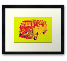 Classic VW 21 window Mini Bus Pop Art Framed Print