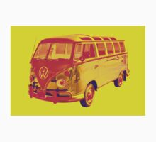 Classic VW 21 window Mini Bus Pop Art Baby Tee