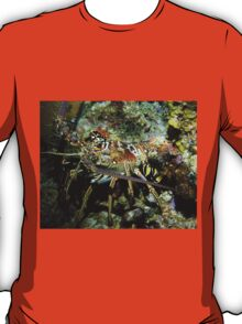 Caribbean Reef Lobster in Color T-Shirt