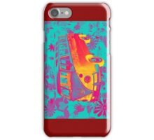 Colorful VW 21 window Mini Bus Pop Art image iPhone Case/Skin