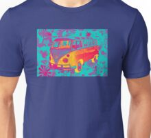 Colorful VW 21 window Mini Bus Pop Art image Unisex T-Shirt