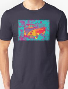 Colorful VW 21 window Mini Bus Pop Art image T-Shirt
