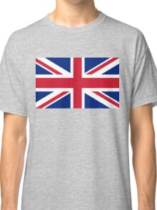 UK Union Jack flag - Authentic version (Duvet, Print on Blue background) Classic T-Shirt