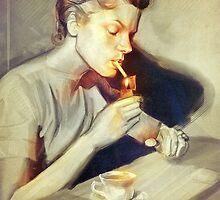 Lauren Bacall by RalucaMarinescu