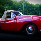 Red Jowett Jupiter Motor Car by Aj Finan