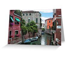 Venetian Waterways Greeting Card