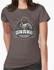 Solid Snake Womens Fitted T-Shirt