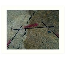 Sidewalk Design Art Print