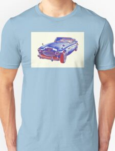 Austin Healey 300 Sports Car Pop Image T-Shirt