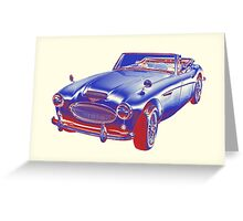Austin Healey 300 Sports Car Pop Image Greeting Card