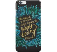 Zelda Fitzgerald – Blue & Gold on Charcoal iPhone Case/Skin