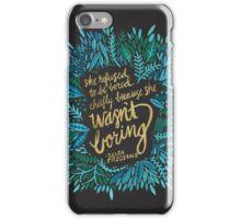 Zelda Fitzgerald – Blue & Gold on Charcoal iPhone Case/Skin