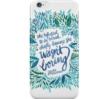Zelda Fitzgerald – Blue on White iPhone Case/Skin