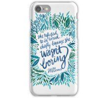 Zelda Fitzgerald – Blue on White iPhone Case/Skin