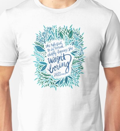 Zelda Fitzgerald – Blue on White Unisex T-Shirt