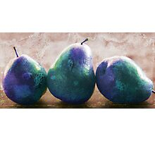 blue stone pears Photographic Print