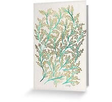 Green & Gold Branches Greeting Card