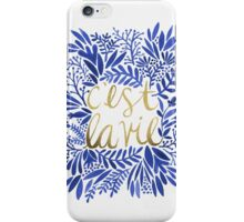 That's Life – Gold & Blue iPhone Case/Skin