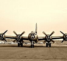B-29 Bomber Plane - Classic Aircraft by Amy McDaniel