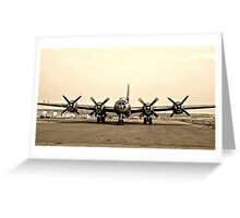 B-29 Bomber Plane - Classic Aircraft Greeting Card