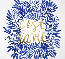 That's Life – Gold & Blue by Cat Coquillette