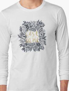 C'est la Vie – Grey & Gold Long Sleeve T-Shirt