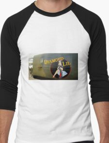 Diamond Lil - Bomber Aircraft Art Men's Baseball ¾ T-Shirt