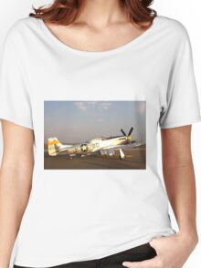 P-51 Mustang Fighter Plane Women's Relaxed Fit T-Shirt