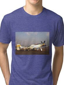 P-51 Mustang Fighter Plane Tri-blend T-Shirt