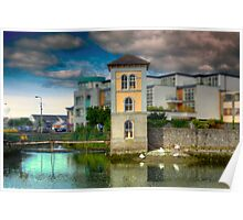 Canal in Galway - County Clare, Ireland Poster