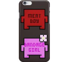 Meat Boy and Bandage Girl iPhone Case/Skin