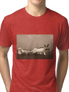 P-51 Mustang Fighter Plane - Classic War Bird Tri-blend T-Shirt