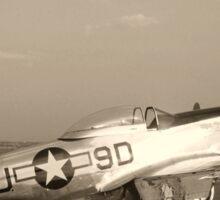 P-51 Mustang Fighter Plane - Classic War Bird Sticker
