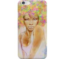 The girl with new hair style iPhone Case/Skin