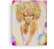 The girl with new hair style Canvas Print
