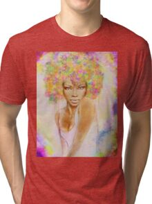The girl with new hair style Tri-blend T-Shirt