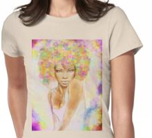 The girl with new hair style Womens Fitted T-Shirt