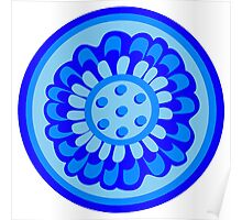 Bluest of Blue Flowers Poster