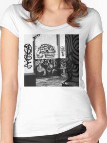 Kota Kinabalu Graffiti Women's Fitted Scoop T-Shirt