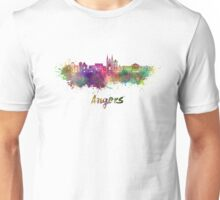 Angers skyline in watercolor Unisex T-Shirt
