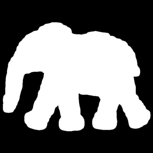 Flower Elephant: White by Bianca Stanton