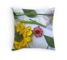 Botanical Collage 2 Throw Pillow