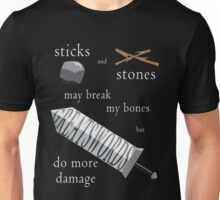 Greatswords Do More Damage-Light on Dark Unisex T-Shirt